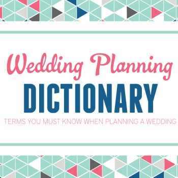 A Wedding Planning Dictionary | Every Last Detail Contributor