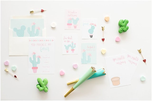 Dairing Babes Cactus Valentine Party | FREEBIE Printables