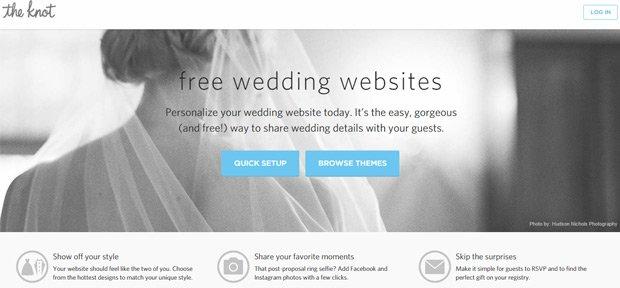 The Knot Wedding Website Builder 1