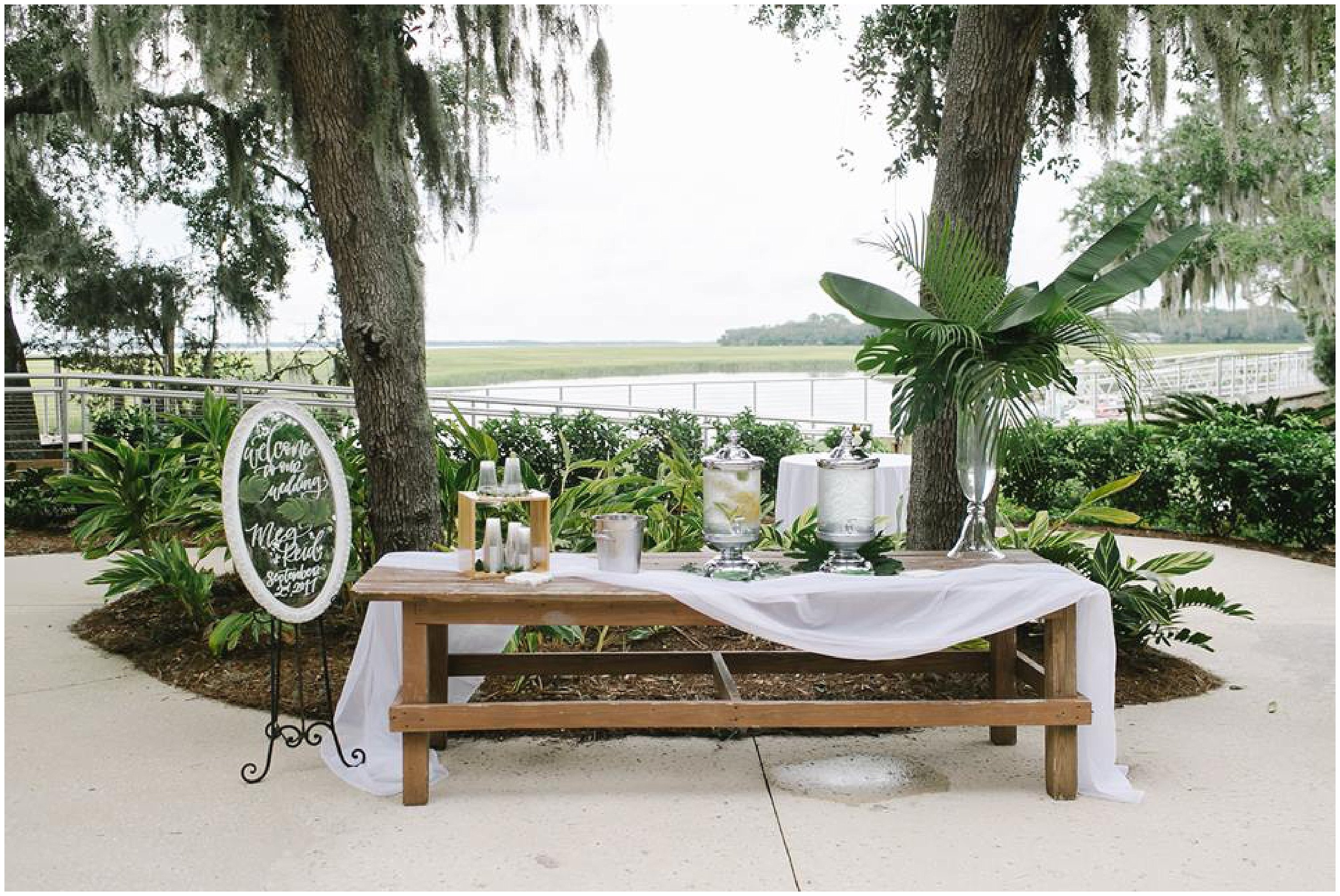 Walkers Landing Reception Centerpieces Omni Amelia Island Plantation